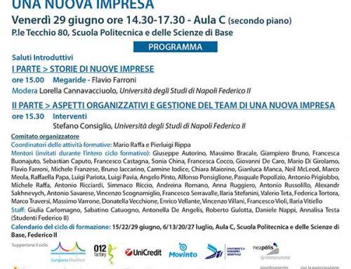 Terzo incontro della formazione della nuove aziende napoletane: Aspetti organizzativi e gestione del team