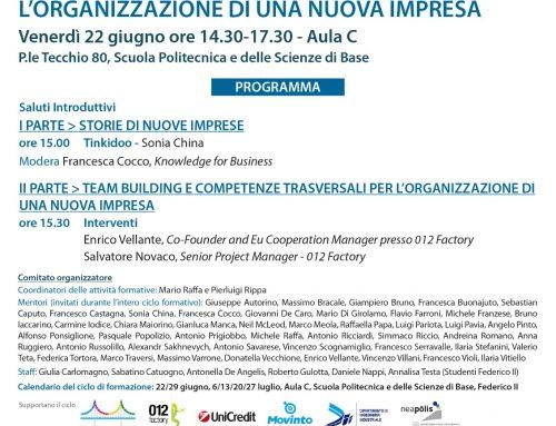 Secondo incontro della formazione della nuove aziende napoletane: Team Building