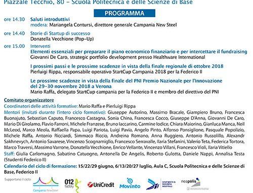 Settimo incontro della formazione della nuove aziende napoletane: Guida pratica alla preparazione degli elementi essenziali del piano economico-finanziario
