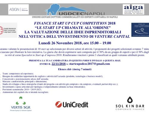 Finance Start Up Cup Competition 2018