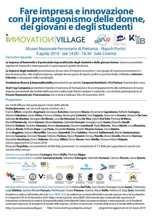 fare impresa innovazione donne giovani studenti 4 aprile 2019