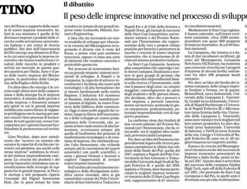Il peso delle imprese innovative nel processo di sviluppo del Sud