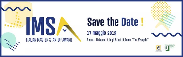 Premio Italian Master Startup Award 2019
