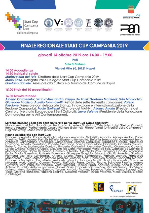 finale startcup campania 2019