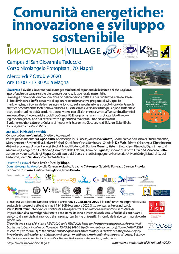 innovation village 7 ottobre 2020