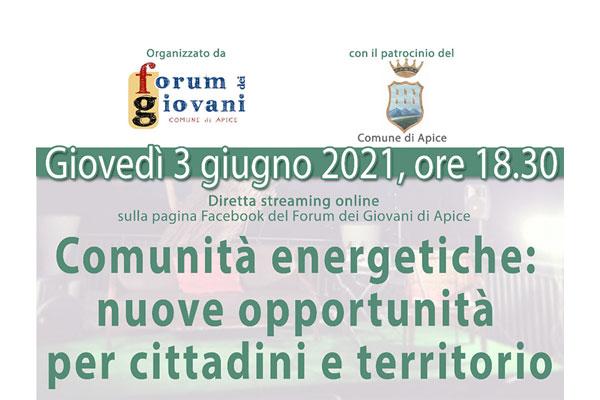 le comunità energetiche 3 giugno 2021